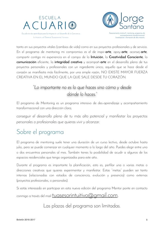 Boletín Jorge Santana 2016-2017